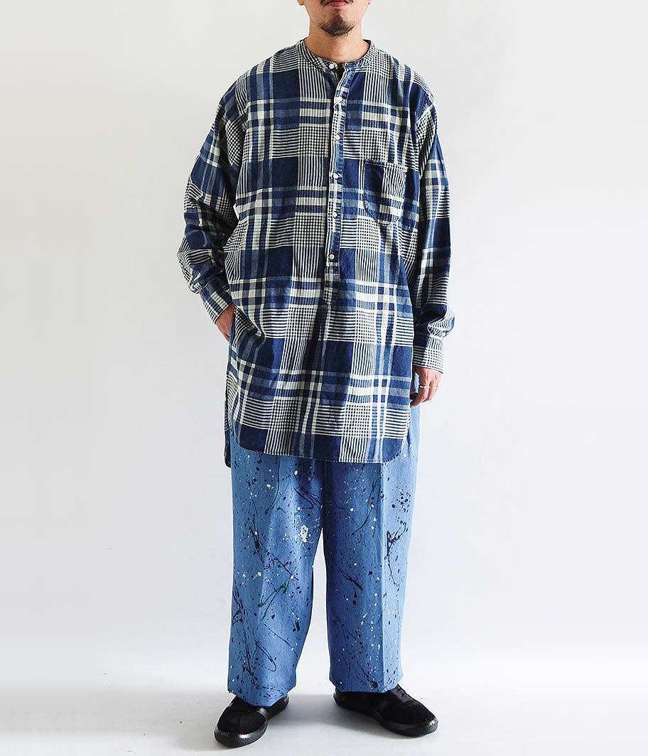 ANACHRONORM Indigo Pullover Long Shirt