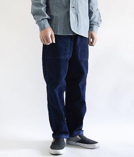 ANACHRONORM INDIGO Corduroy Taperd Eazy Pants