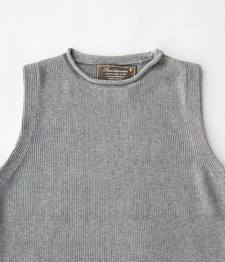 ANACHRONORM Silk Cotton Rib Sweater Vest