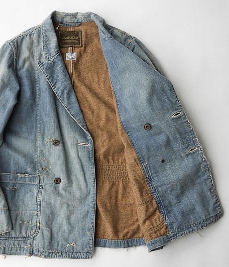 ANACHRONORM Damaged Denim Lapel Jacket