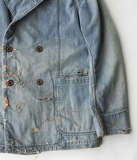 ANACHRONORM Damaged Denim Lapel Jacket