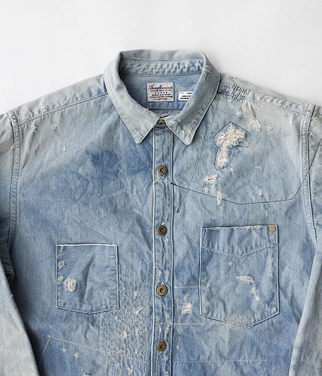 ANACHRONORM Damaged Denim Work Shirt