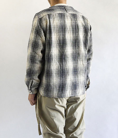 ANACHRONORM Damaged Ombre Plaid Shirt-Cardigan