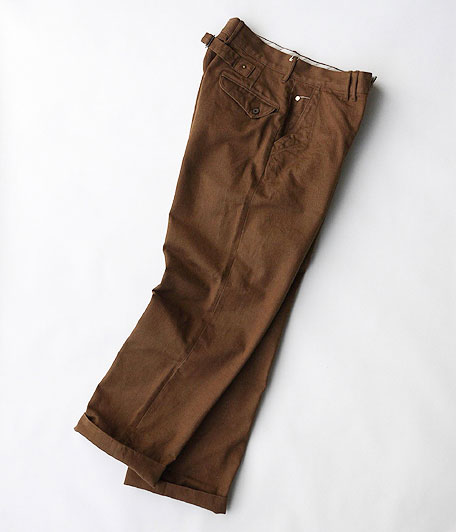 ANACHRONORM Cotton Herringbone Wide Trousers