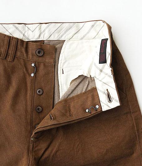 ANACHRONORM Cotton Herringbone Wide Trouser Shorts