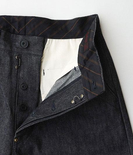 ANACHRONORM Indigo Chino Wide Trouser Shorts