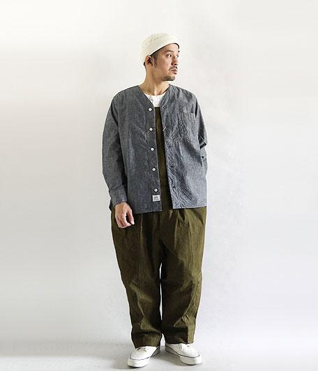 ANACHRONORM Indigo Chambray Shirt-Cardigan