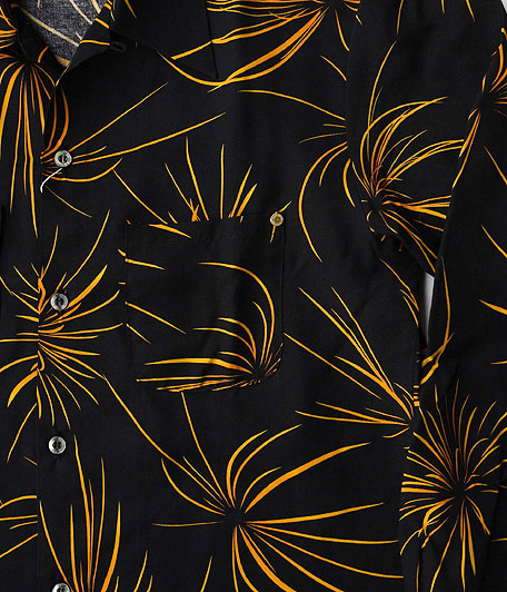 ANACHRONORM Rayon Hand Print L/S Shirt