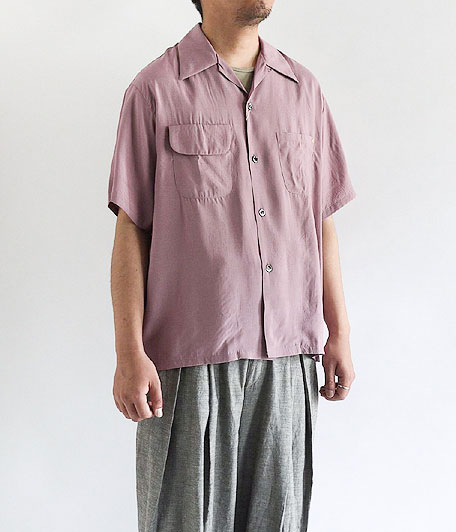ANACHRONORM Rayon Silk Open Collar Shirt