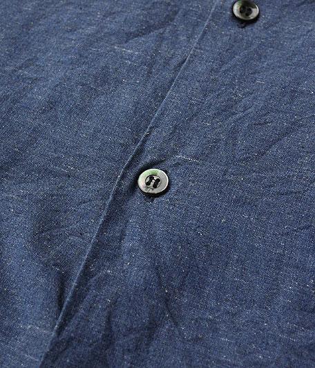 ANACHRONORM Chambray Open Collar Shirt