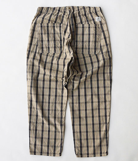 ANACHRONORM Cotton Check Easy Pants
