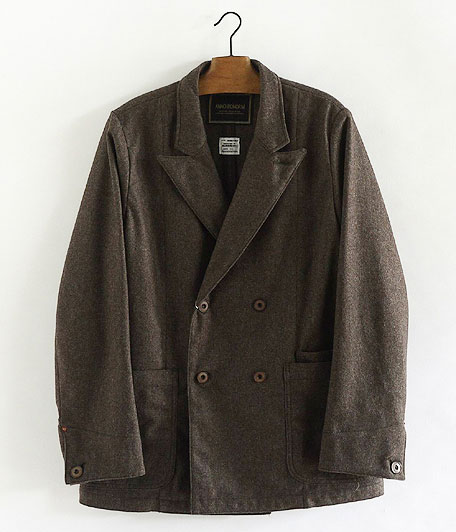 ANACHRONORM Wool Flannel Lapel Jacket