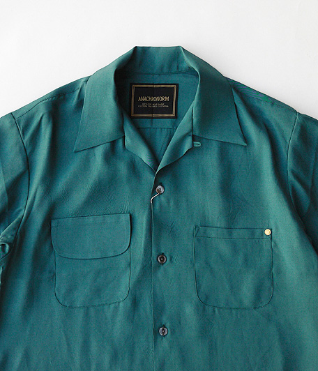 ANACHRONORM Rayon Open Collar Shirt