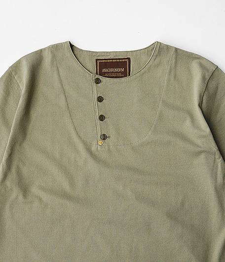 ANACHRONORM Tilted Henley Neck T-S
