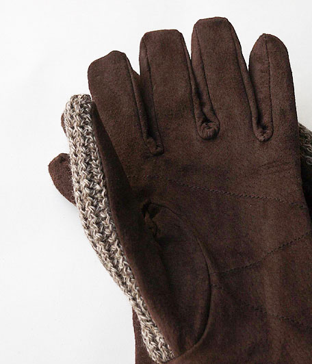 ANACHRONORM Suede Knit Mix Glove