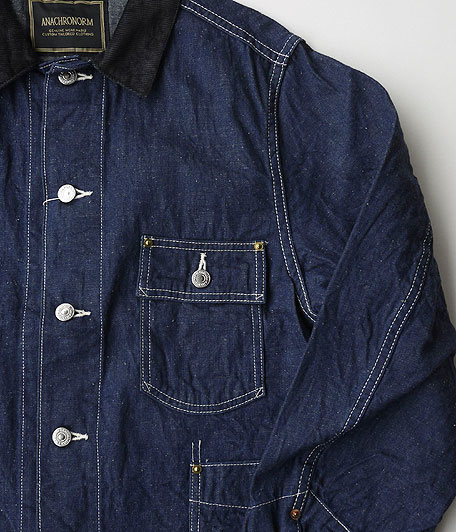 ANACHRONORM Rinsed Denim Rail Road Jacket