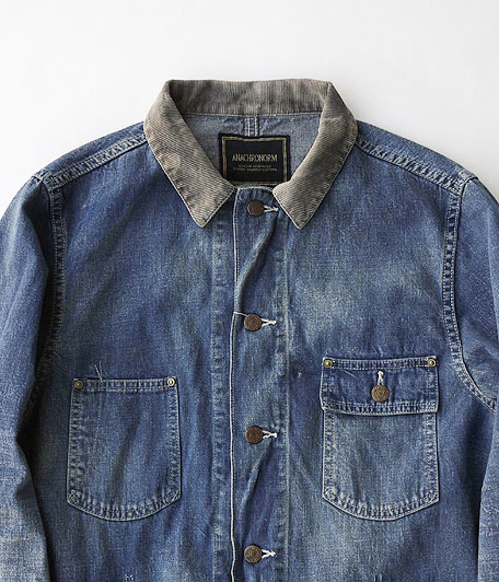 ANACHRONORM Washed Denim Rail Road Jacket