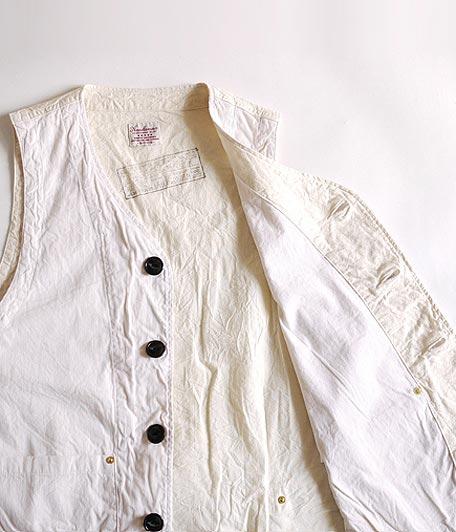 ANACHRONORM Clothing Cordlane Work Vest/OFF WHITE