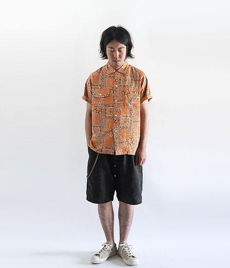 ANACHRONORM Clothing Bandana Open Collar S/S Shirt
