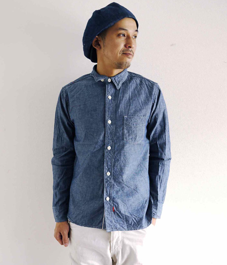 アナクロノームBurkina Faso Chambray Work Shirt
