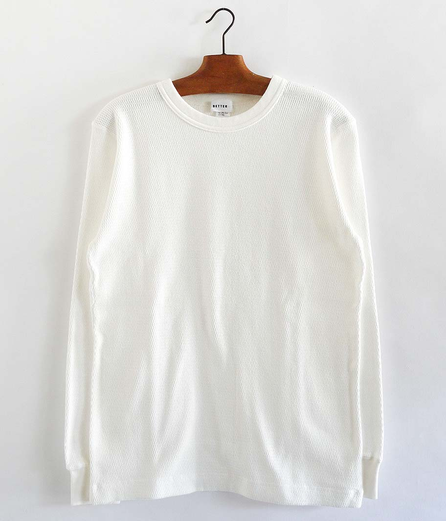 BETTER HONEYCOMB CREW NECK L/S  T-SHIRT