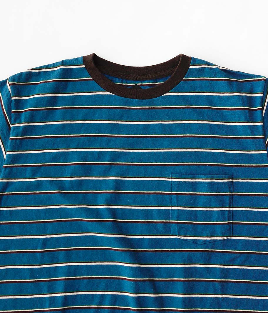 CORONA MULTI STRIPE POCKET TEE