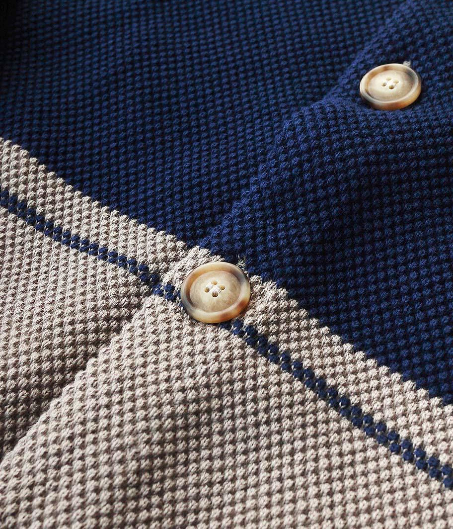 crepuscule Moss Stitch Border Cardigan