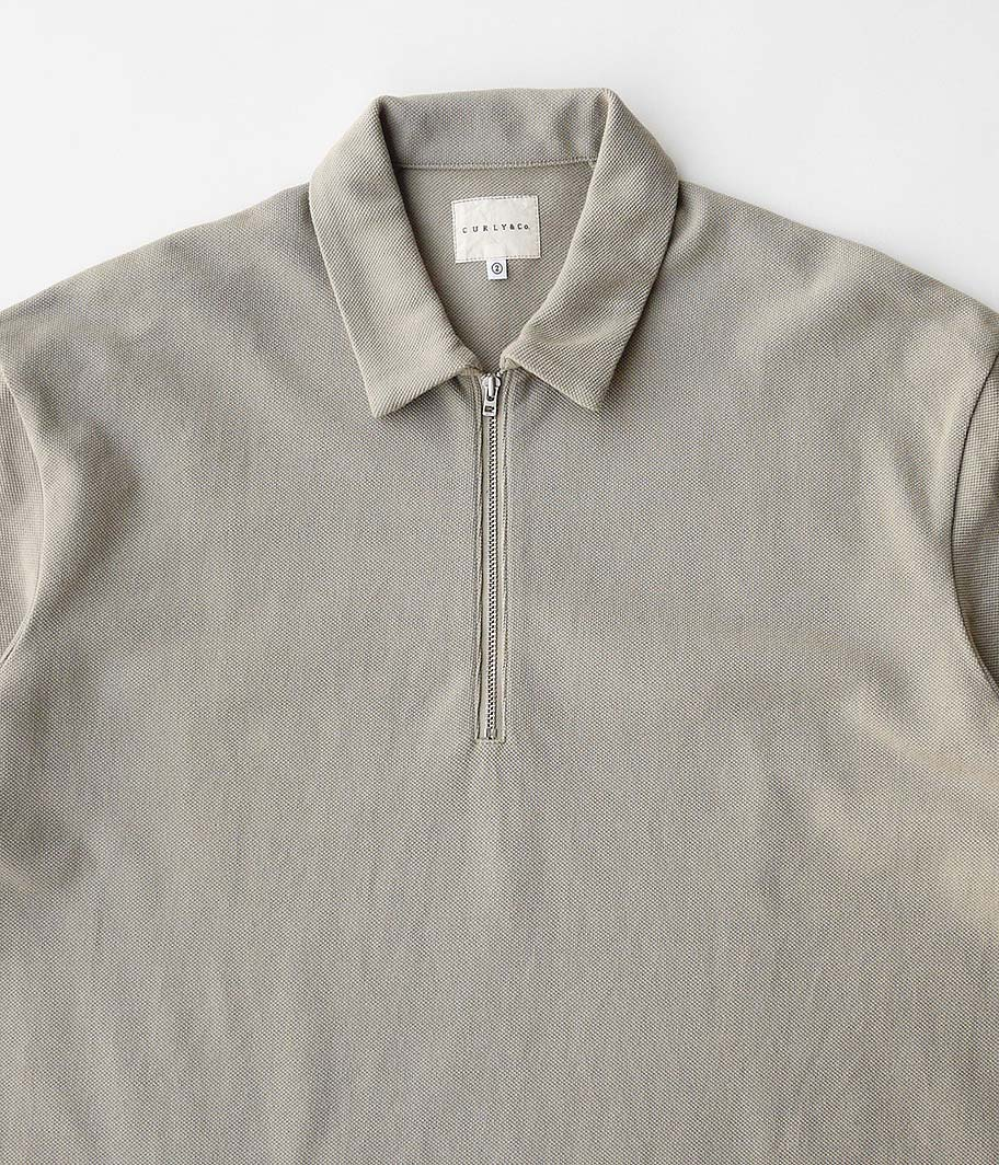 CURLY BRIGHT SS ZIP POLO