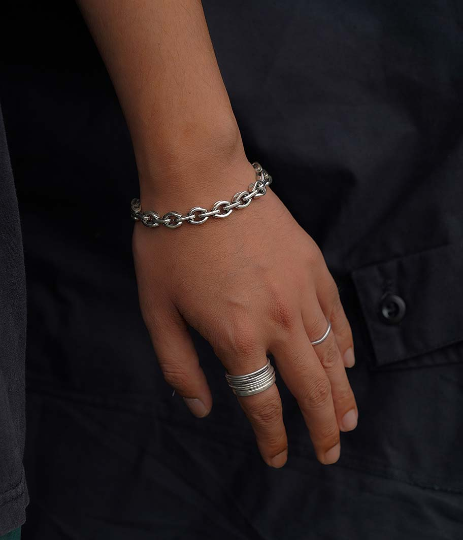 FIFTH Silver Chain Bracelet