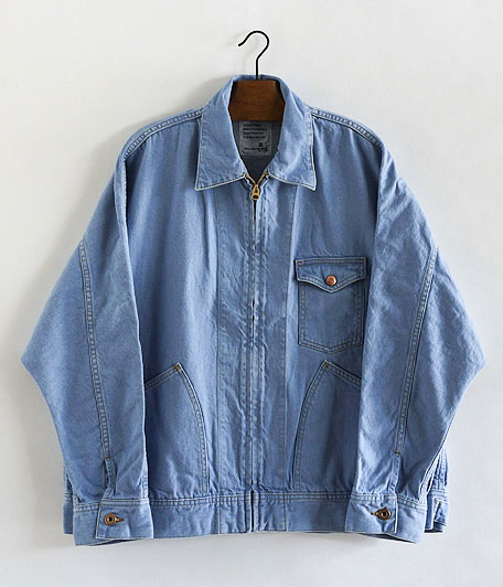 H.UNIT STORE LABEL Denim Dolman Zip Work Jacket