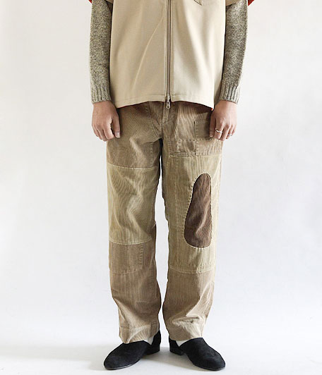 H.UNIT STORE LABEL 9w Corduroy wide trousers Customized
