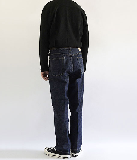 H.UNIT STORE LABEL Indigo Denim Tuck 5P Washed