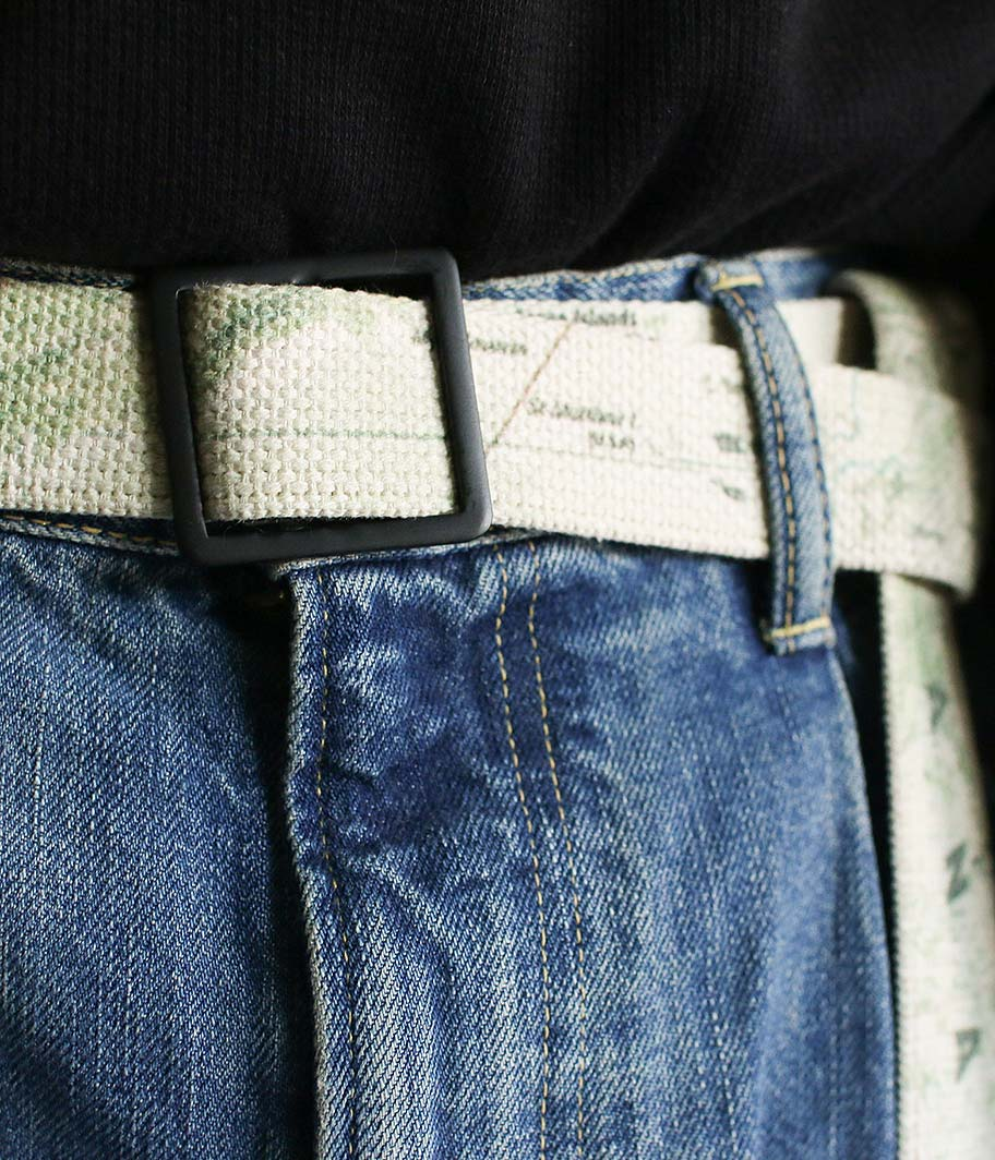H.UNIT STORE LABEL World map print belt