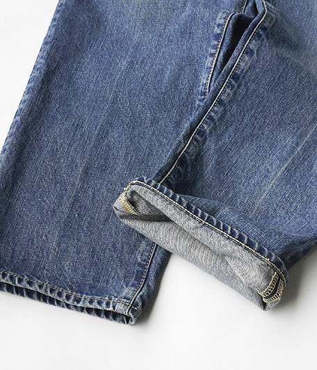 H.UNIT STORE LABEL Indigo Denim Tuck 5P Real Wash
