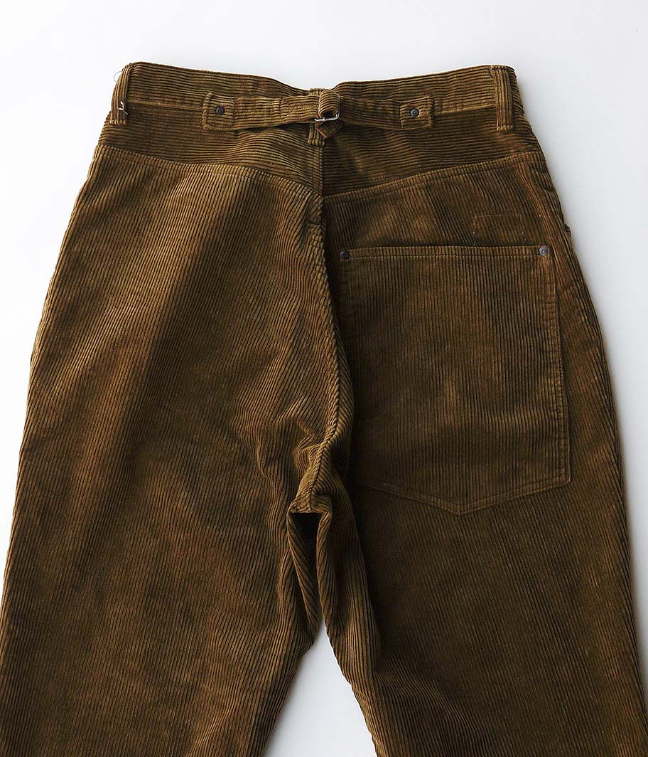 H.UNIT STORE LABEL 8w Corduroy Tuck Wide Tapered 4p