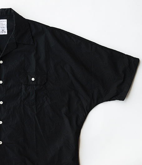 H.UNIT STORE LABEL Dolman Open Collar Short Sleeve Shirt