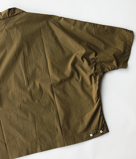 H.UNIT STORE LABEL Dolman Open Collar Short Sleeve Shirt