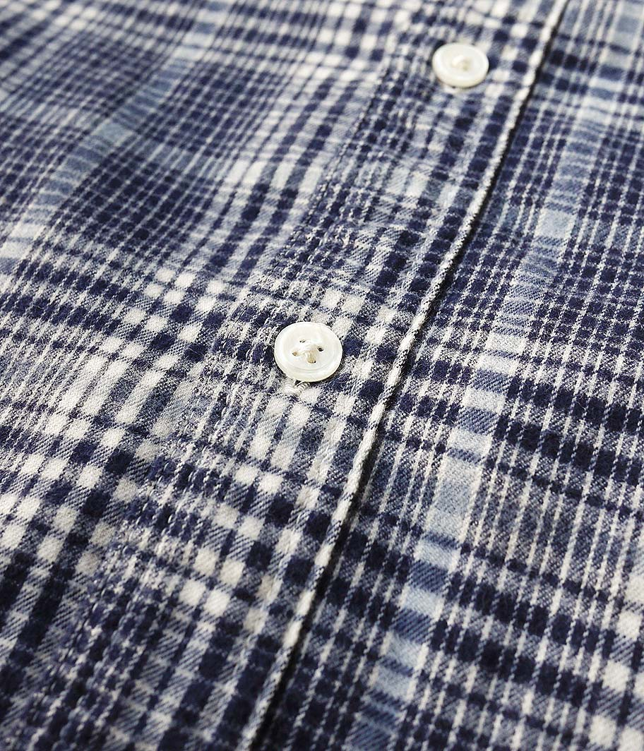 H.UNIT STORE LABEL Flannel Check Dolman Work Long Sleeves Shirt
