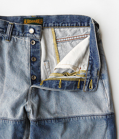 HURRAY HURRAY composition Patchwork  Denim Pants