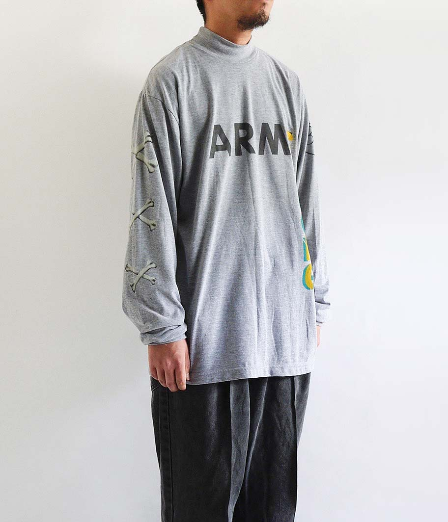 HURRAY HURRAY ARMY L/S MOCK NECK TEE