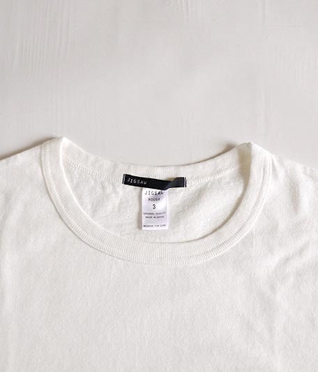 JIGSAW HEAVY WEIGHT RAFFY COTTON S/S WEATHERED POCKET T-SHIRT