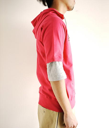 JIGSAW HEAVY WEIGHT AMERICAN COTTON S/S PULL-OVER HOODY