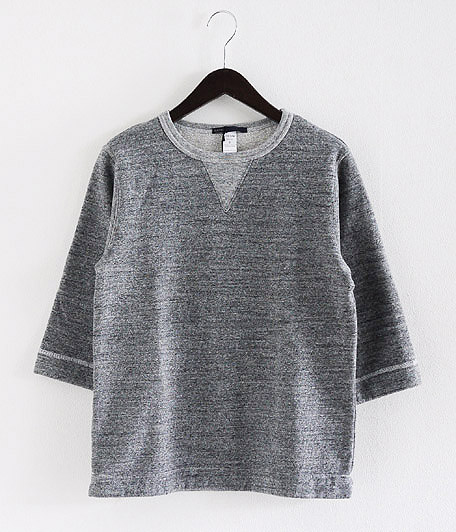 JIGSAW MELANGE FLEECE  3/4 SLEEVE T-SHIRT