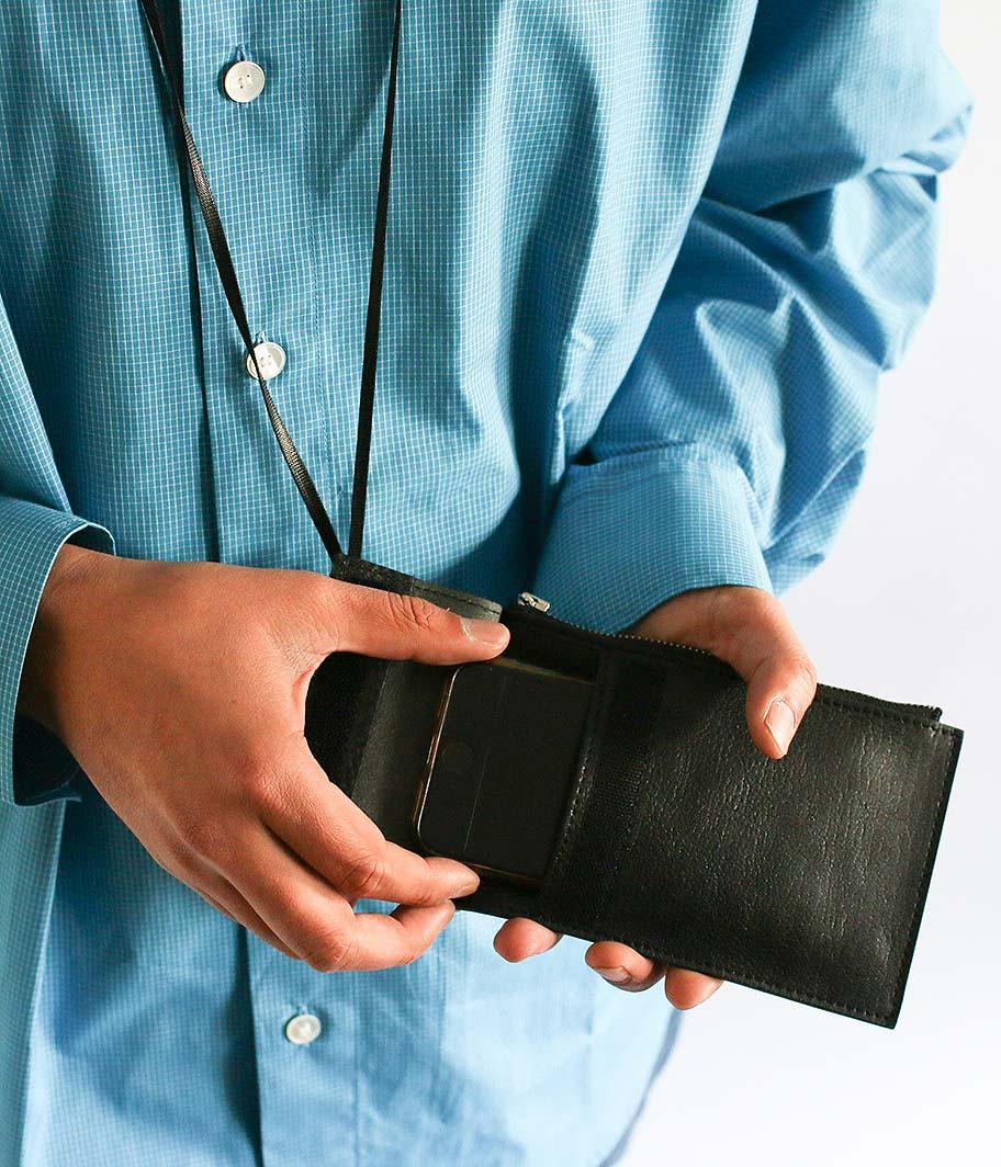 KAIKO Leather Neck Bag M
