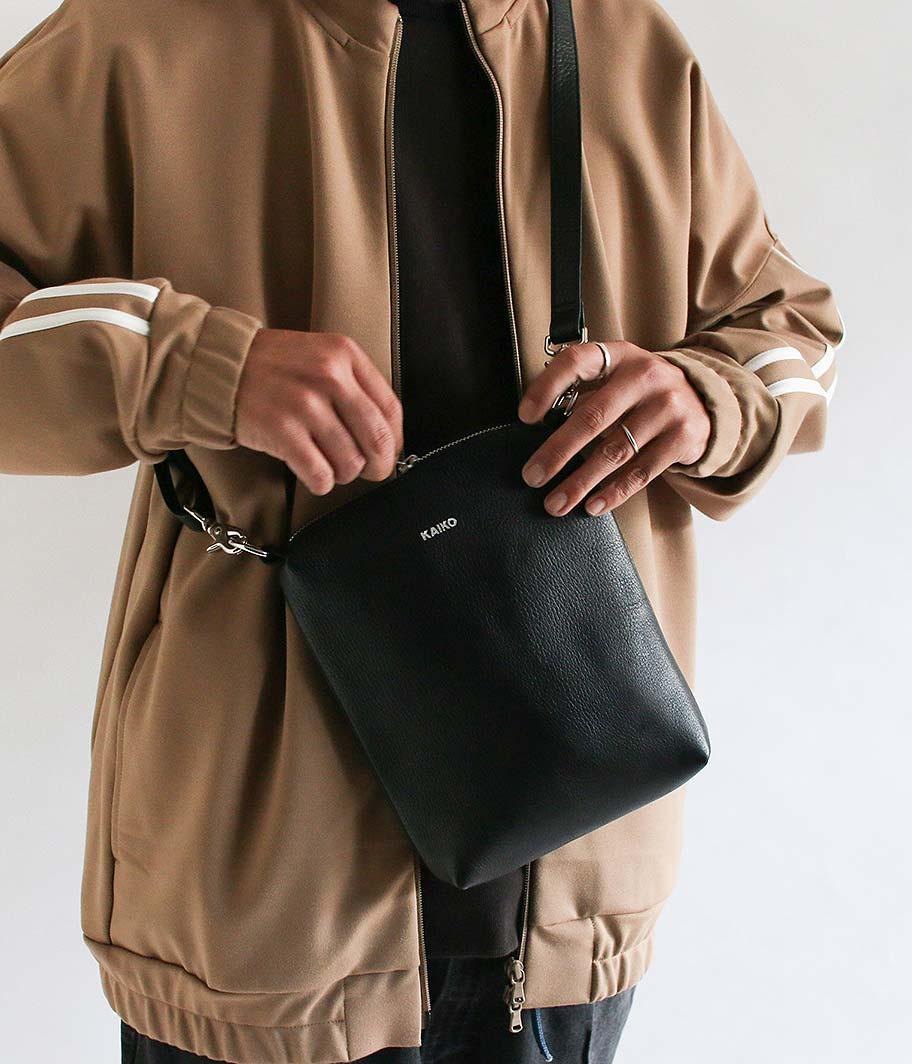 KAIKO Leather Shoulder Bag