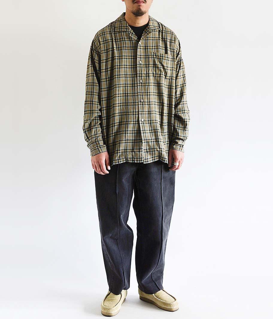 KAPTAIN SUNSHINE Open Collar L/S Shirt