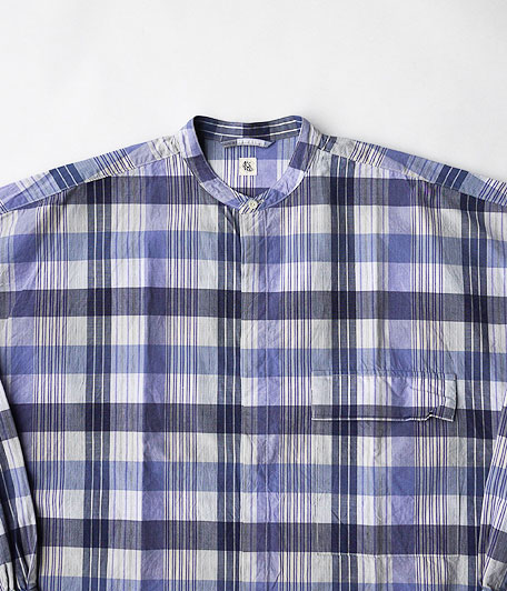 KAPTAIN SUNSHINE Fly Front Band Collar Shirts