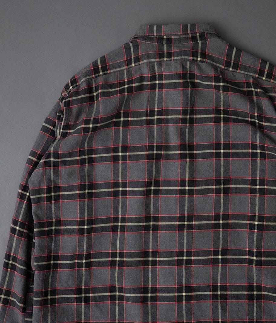 60's フレンチフランネルチェックシャツ