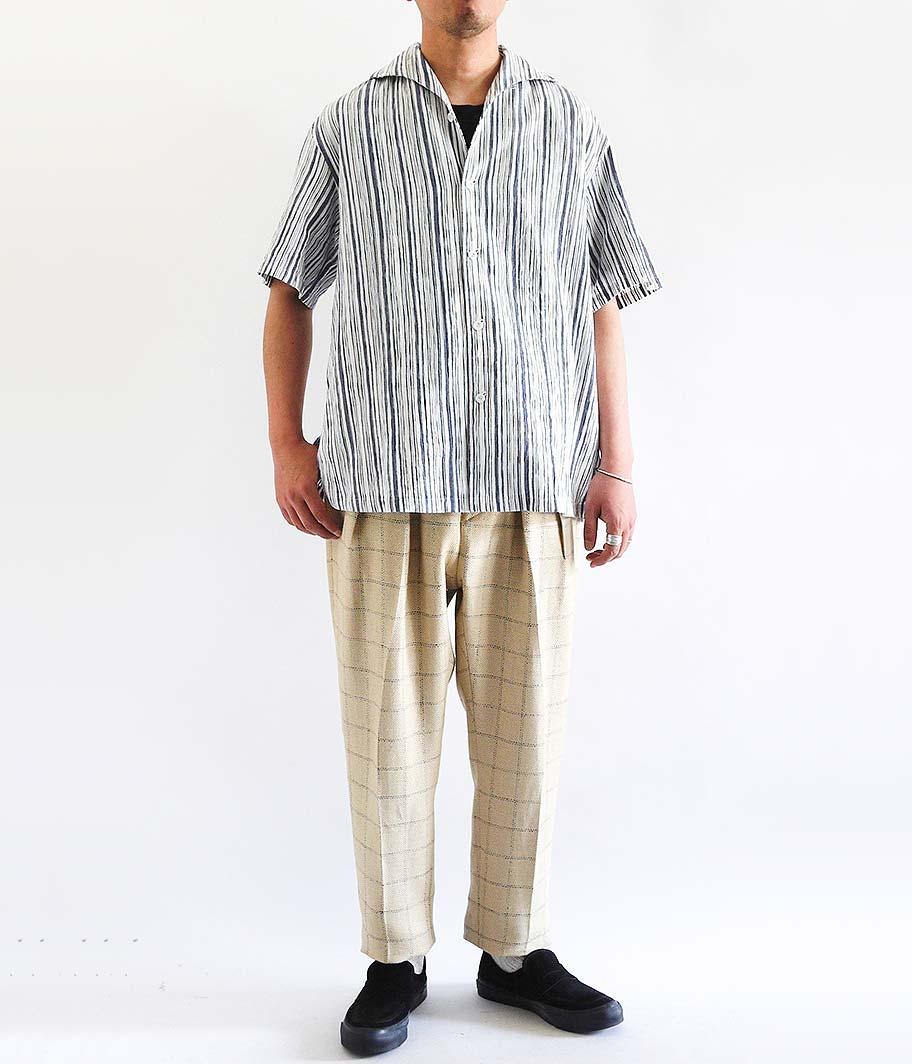 SOWBOW CHIKUGO-ORI 蒼氓シャツ / ONE PEACE COLLAR
