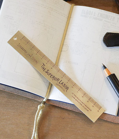 THE SUPERIOR LABOR 15cm Brass Ruler